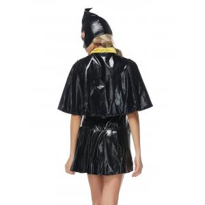 Halloween Belted Bat Design Cosplay Dress -