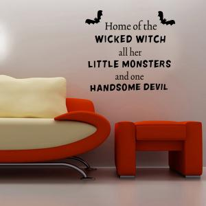 Halloween Proverb Wicked Witch Words Room Decoration Wall Sticker -