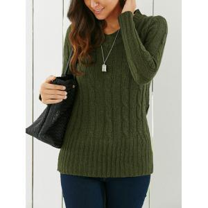 Longline V Neck Sweater - GREEN ONE SIZE
