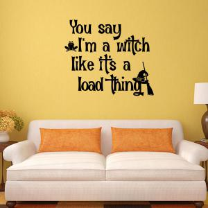 Halloween Proverb Letter Removable Vinyl Wall Sticker -