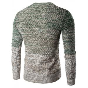 Round Neck Knit Blends Ombre Long Sleeve Sweater -