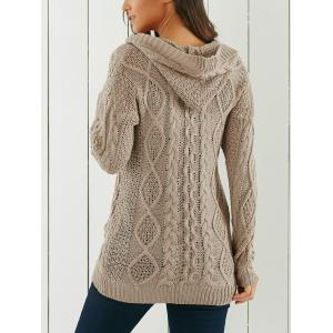 Cable-Knit Hooded Cardigan -