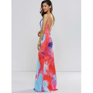 Backless Tie Dyed Evening Cami Dress -