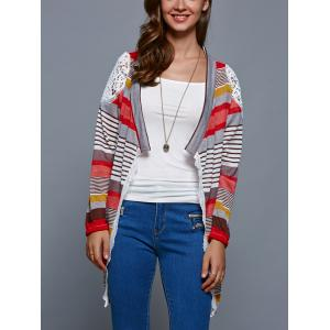 Colorful Print Thin Cardigan - COLORMIX S