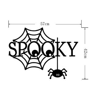 Halloween Spooky Letter Spider Web Design Vinyl Wall Stickers Custom -