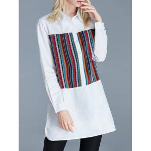 Furcal Ethnic Pattern Loose-Fitting Buttoned Shirt -