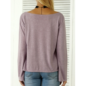 Boat Neck Flare Sleeves T-Shirt -