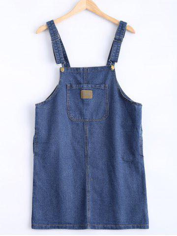 Outfits Loose Fitting Pocket Design Overall Dress