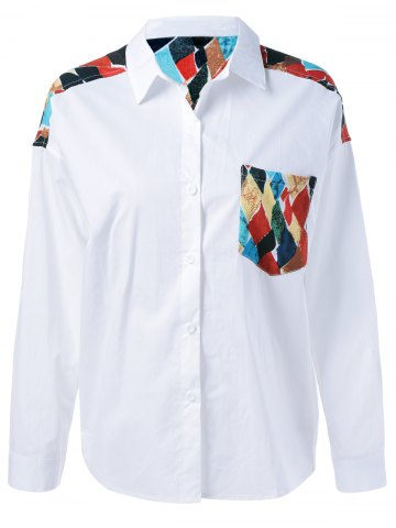 Affordable Back Geometrical Print Shirt
