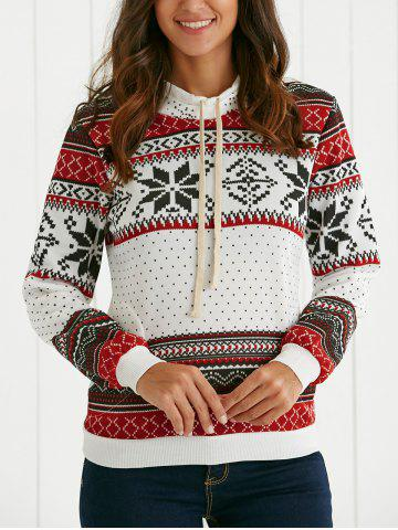 Outfits Ethnic Style Flocky Printed Hoodie