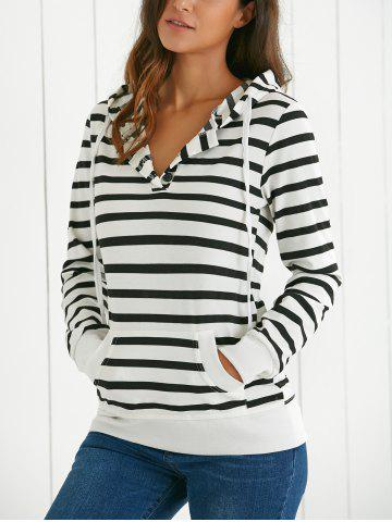 Unique Long Sleeves Hooded Striped Hoodie