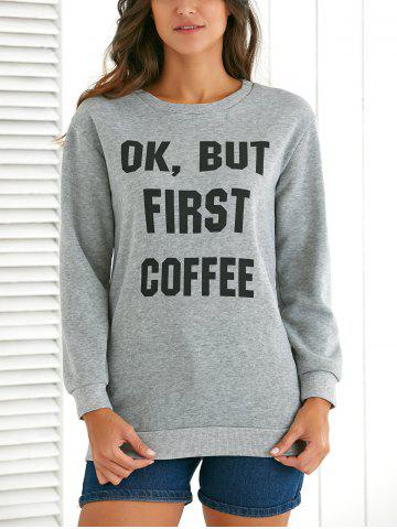 Outfits Round Neck Long Sleeve Letter Pattern Sweatshirt