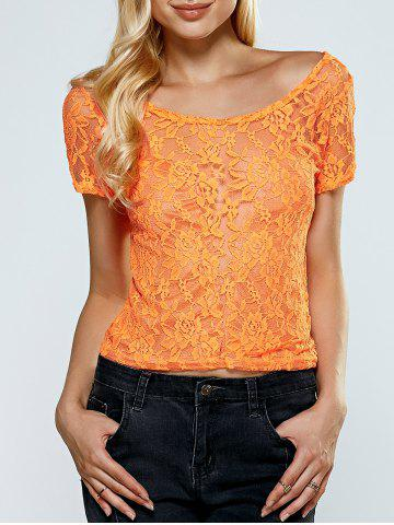 Discount Backless Bowknot Lace Top