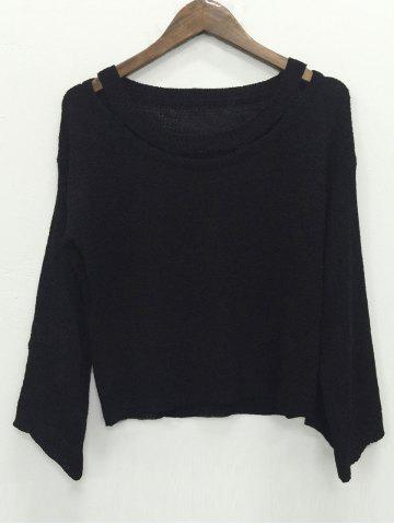 New Long Sleeve Hollow Out Knitwear