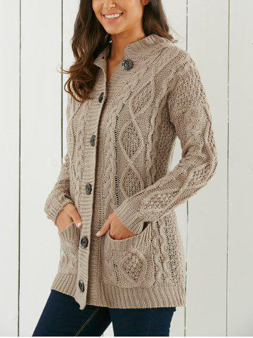 Chic Cable-Knit Hooded Cardigan