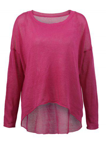 Hot Long Sleeves High Low Knitted Pullover