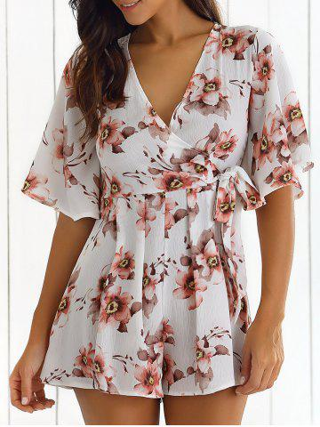 Outfits Front Tied Print Romper