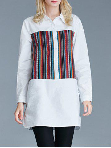 Fancy Furcal Ethnic Pattern Loose-Fitting Buttoned Shirt