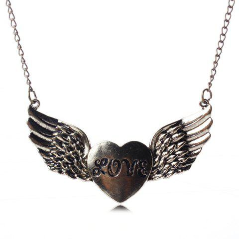 Outfits Love Heart Opening Wings Shape Sweater Chain