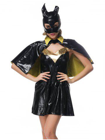 Shop Halloween Belted Bat Design Cosplay Dress