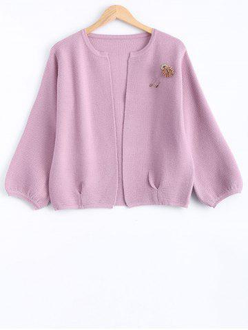 Online Brooch Knitted Cardigan