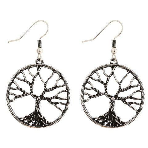 Affordable Pair of Tree of Wisdom Earrings - SILVER  Mobile