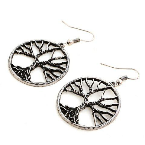 New Pair of Tree of Wisdom Earrings - SILVER  Mobile