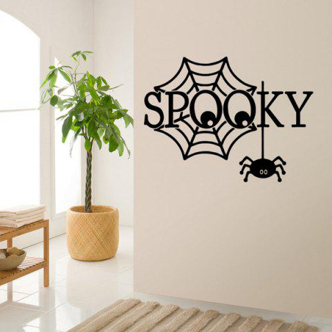Trendy Halloween Spooky Letter Spider Web Design Vinyl Wall Stickers Custom