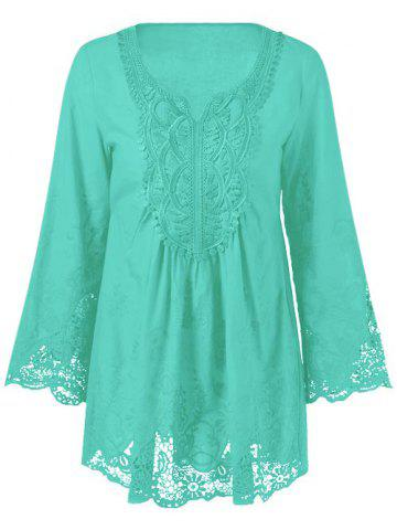 Hot Lace Patchwork Peasant Top
