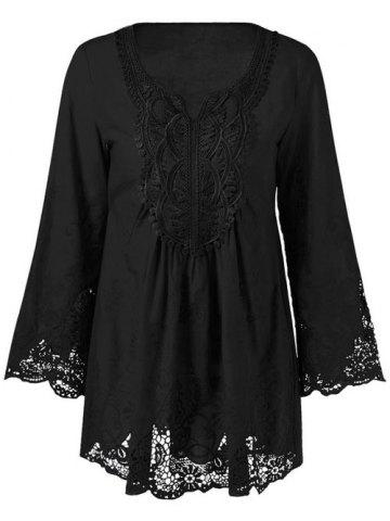 Affordable Lace Patchwork Peasant Top