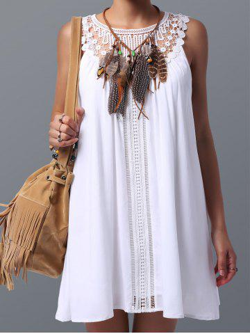 Discount Lace Panel Spring Casual Summer Tunic Dress