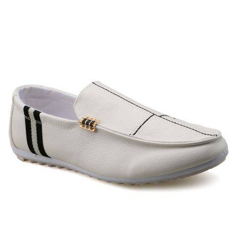 Cheap PU Leather Slip-On Stitching Loafers