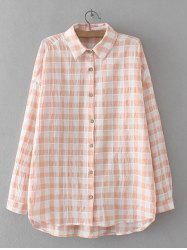 High Low Checkered Pattern Shirt