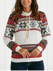 Ethnic Style Flocky Printed Hoodie -