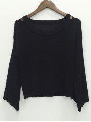Long Sleeve Hollow Out Knitwear -