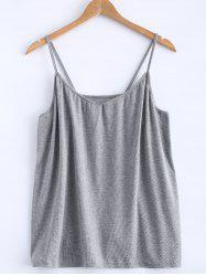 Open Back Stretchy Ribbed Tank Top -