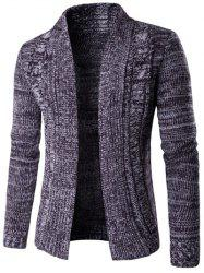 Turn-Down Collar manches longues en maille Blends Cardigan - Pourpre  2XL