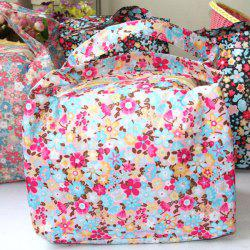 Colorful Floral Pattern Waterproof Keeping Warm Lunch Bag -