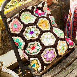 Chinese Style Comfortable Knitted Hexagon Pillow Case - COLORFUL