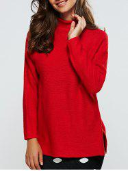 Ribbed Furcal Loose-Fitting Pullover Sweater -