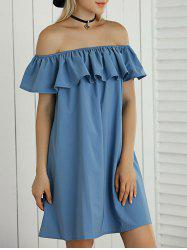 Off The Shoulder Flounce Bardot Dress