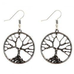 Pair of Tree of Wisdom Earrings - SILVER