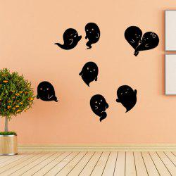 Wholesale Hallowmas Ghost Removable Bedroom Wall Sticker - BLACK