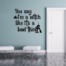 Halloween Proverb Letter Removable Vinyl Wall Sticker