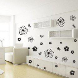 Vinyl Art Flower Pattern Fridge Window Room Wall Sticker