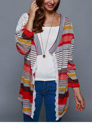 Colorful Print Thin Cardigan - COLORMIX