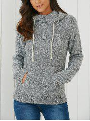 Hooded Long Sleeve Pocket Design Women's Sweater