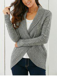 Shawl Collar Cardigan - GRAY S