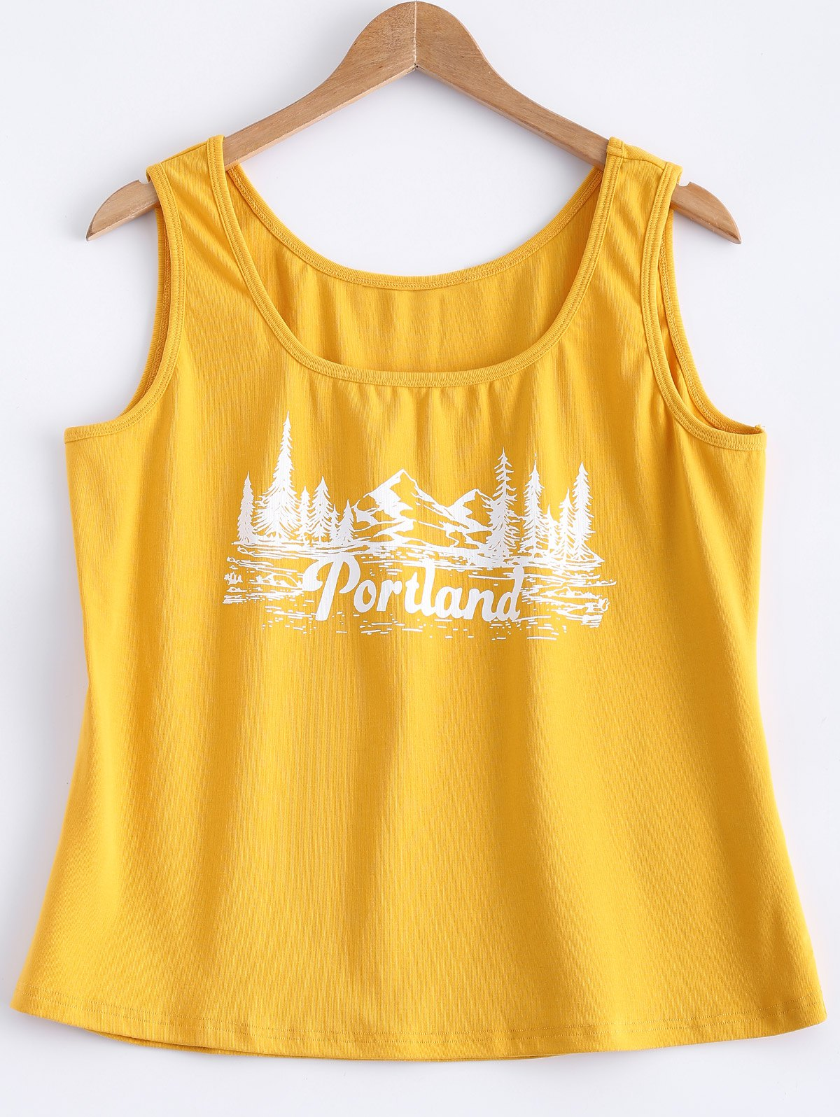 Mountain View Printed Tank Top Jaune 5XL