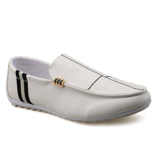 PU cuir Slip-On Stitching Mocassins